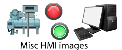 Visio stencils of HMI images